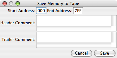 Save Memory to Tape